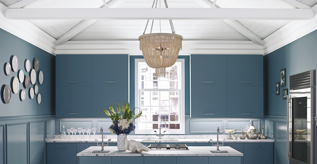 Kitchen Interior Green-Paint