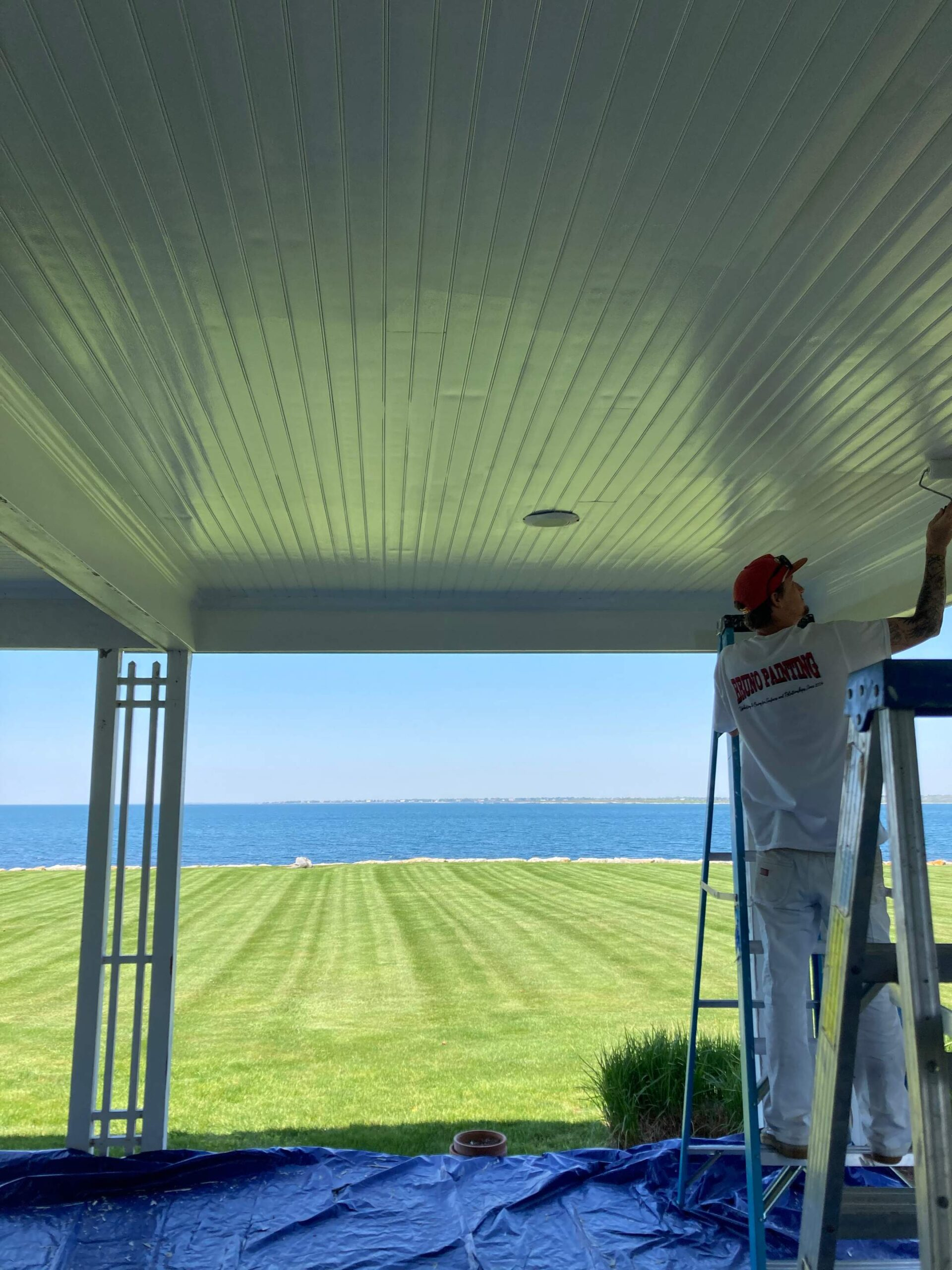 A Home's Exterior Painted to protect from the elements