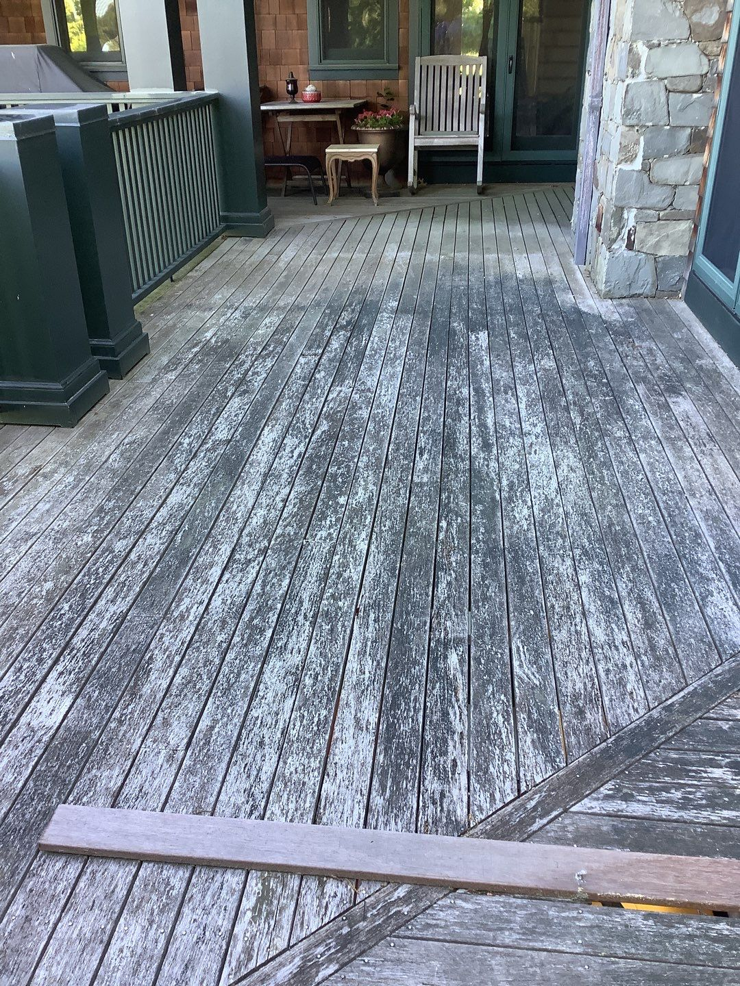 a faded deck is a sign that your deck needs to be repaired